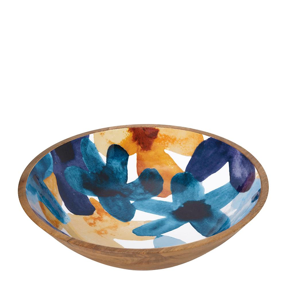 Bloom Wooden Decal Bowl Large Multi-Bibilo