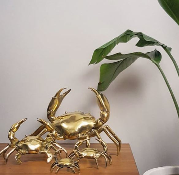 Mr Pinchy Brass Crab Small-Bibilo
