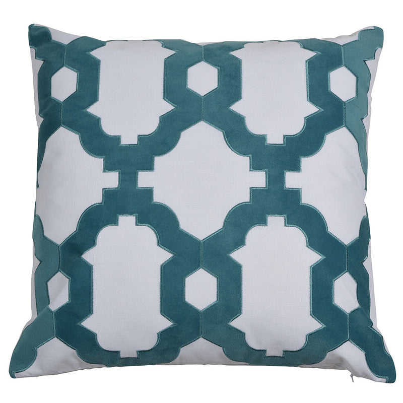 Brighton Turquoise 50cm Cushion Cover-Bibilo