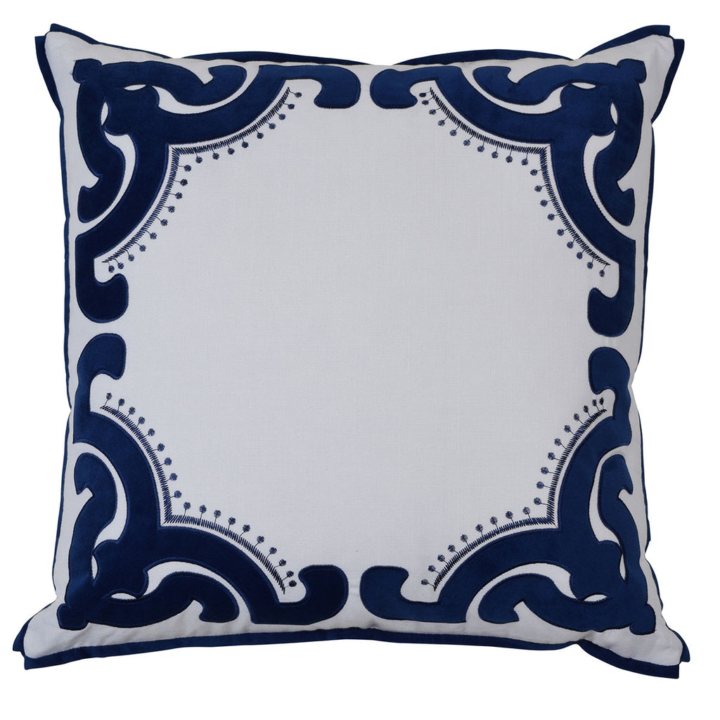 Bronte Navy 55cm Cushion Cover-Bibilo