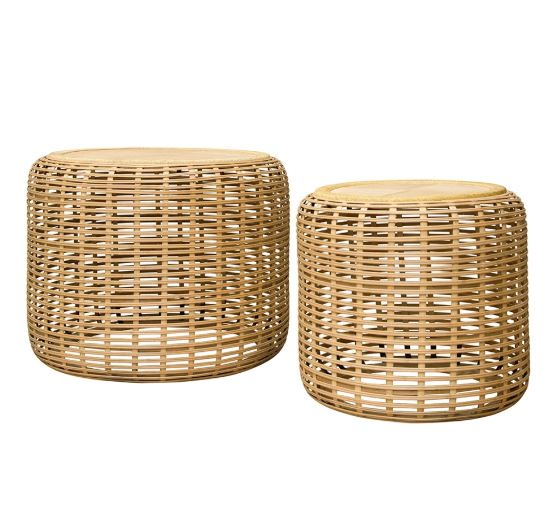 Brysen Side Tables Set of 2 Natural-Bibilo