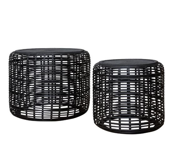 Brysen Side Tables Set of 2 Black-Bibilo