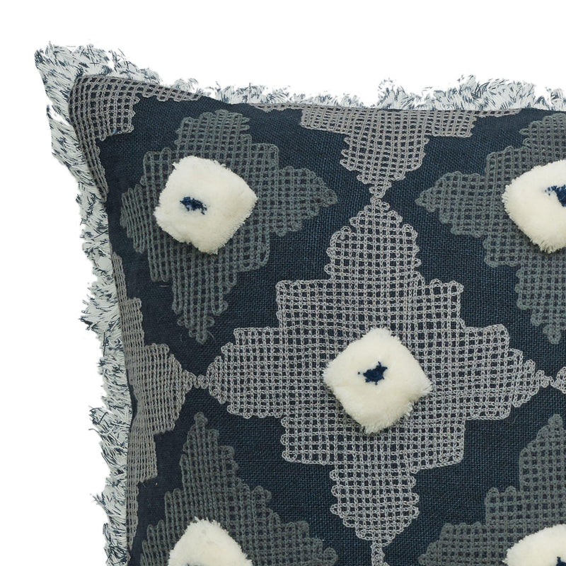 Porter Atlantis Square 50cm Cushion Charcoal Set of 2-Bibilo