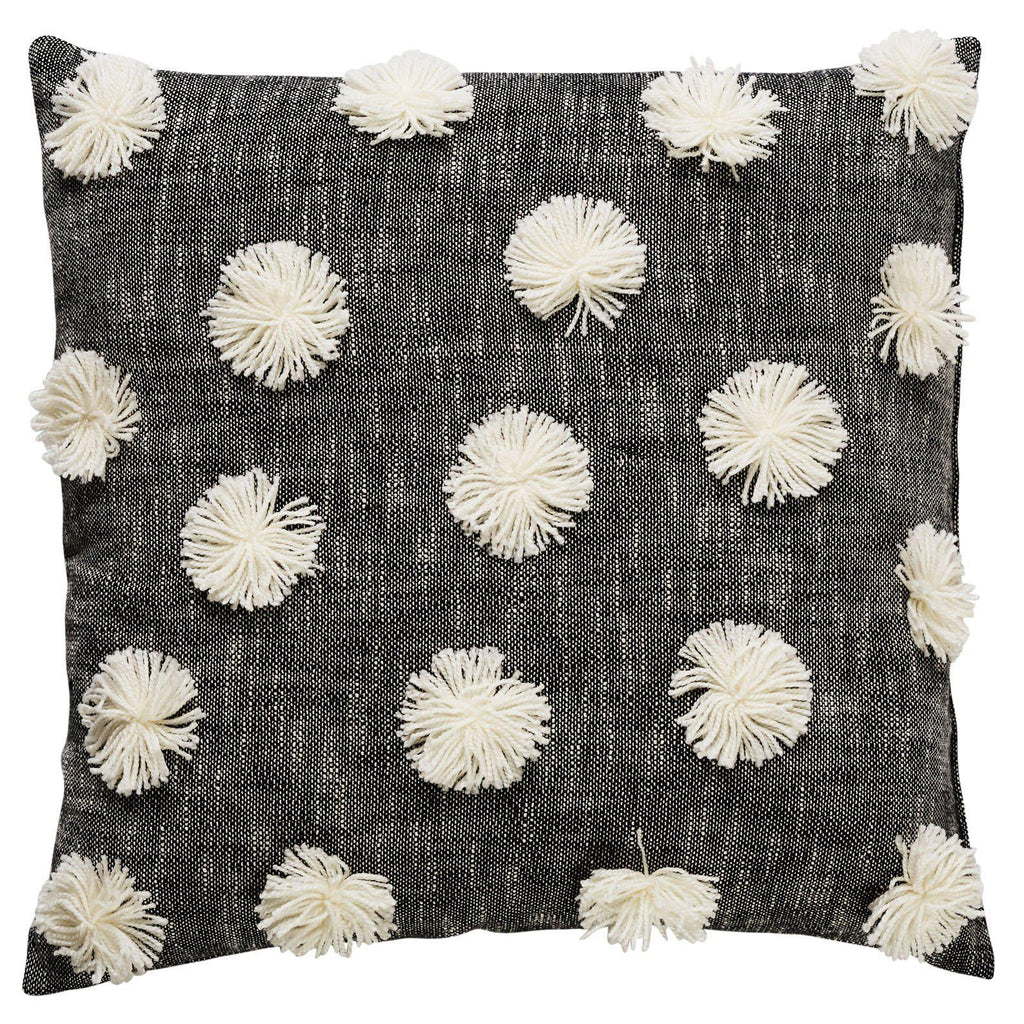 Bartley Aniseed Square 60cm Cushion Black & Ivory Set of 2-Bibilo