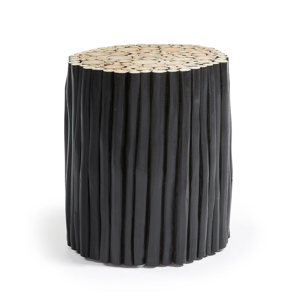 Husk Side Table Teak Black-Bibilo