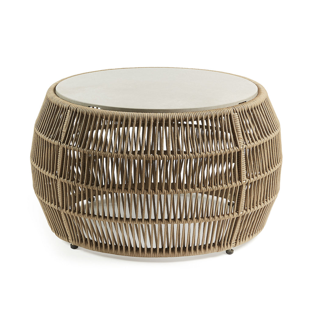 Bahamas 70 Side Table Beige-Bibilo