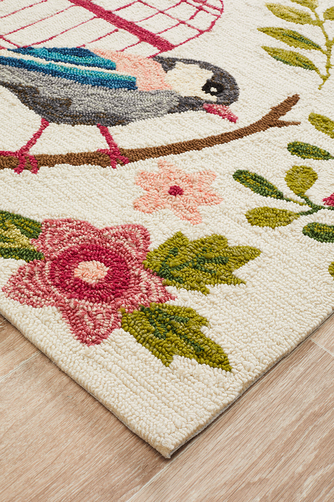 Finch Exquisite Indoor Outdoor Cream Rug-Bibilo