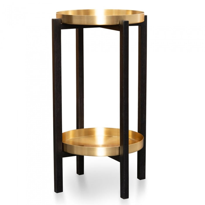 Glam Tray Side Table Brass-Bibilo
