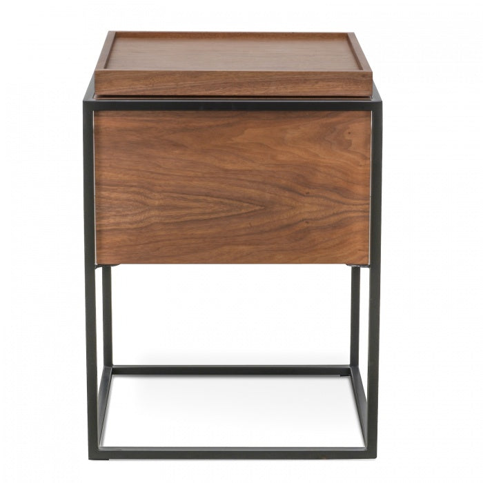 Norgen Side Table Walnut-Bibilo
