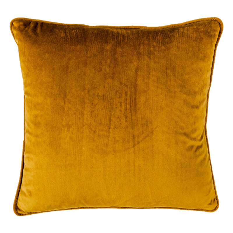 Coco Velvet Feather 50cm Cushion Gold Set of 2-Bibilo
