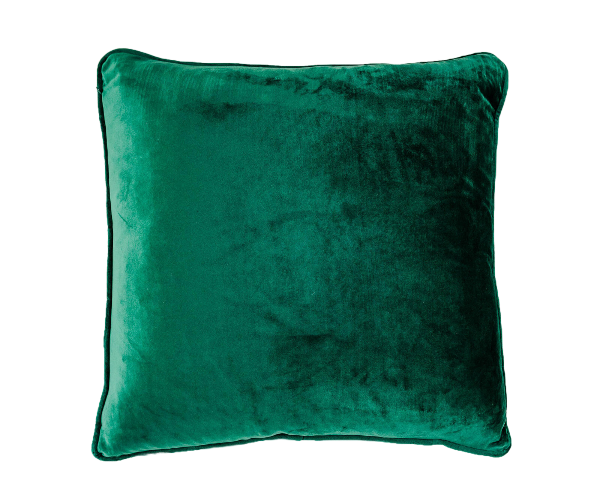 Coco Velvet Feather 50cm Cushion Emerald Set of 2-Bibilo