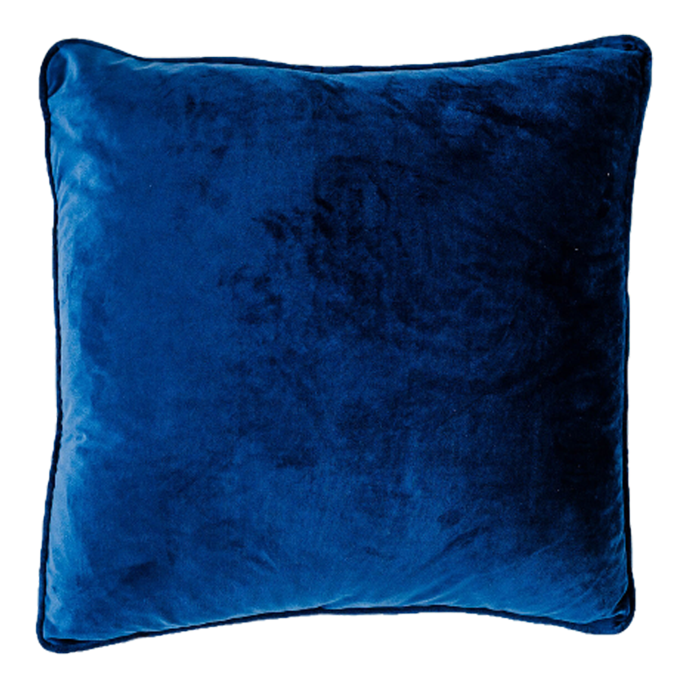 Coco Velvet Feather 50cm Cushion Navy Set of 2-Bibilo
