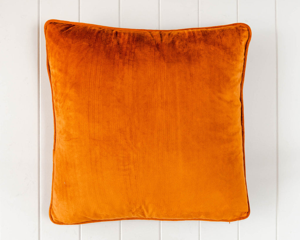 Coco Velvet Feather 50cm Cushion Rust Set of 2-Bibilo