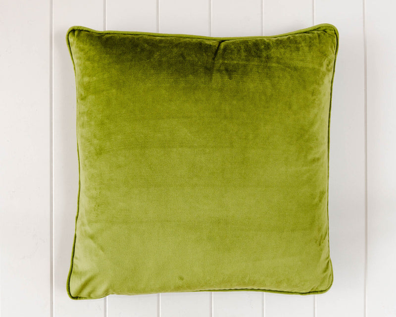 Coco Velvet Feather 50cm Cushion Oilve Green Set of 2-Bibilo