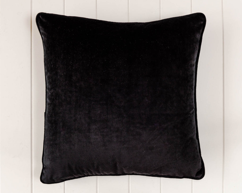Coco Velvet Feather 50cm Cushion Black Set of 2-Bibilo