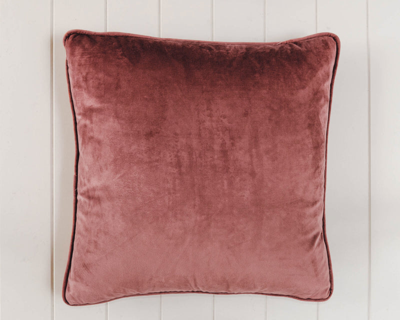 Coco Velvet Feather 50cm Cushion Dusty Rose Set of 2