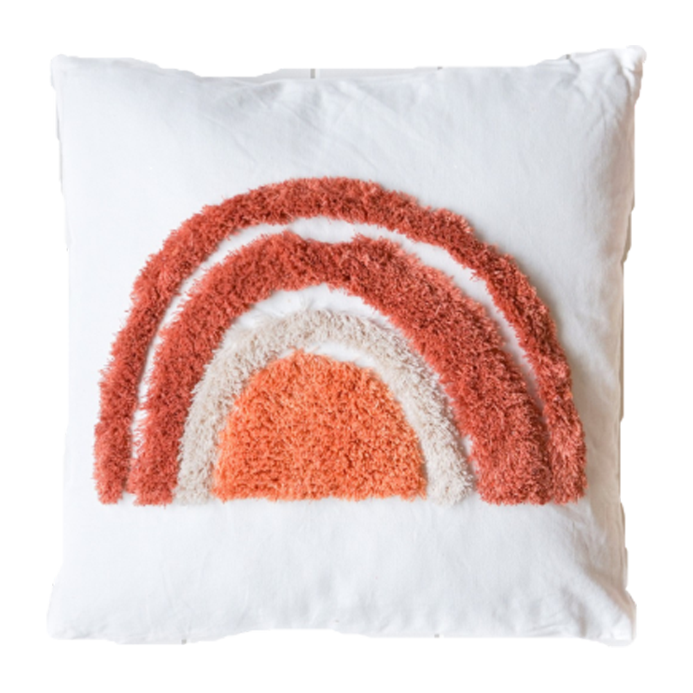 Rainbow Square 45cm Cushion Blush Set of 2-Bibilo