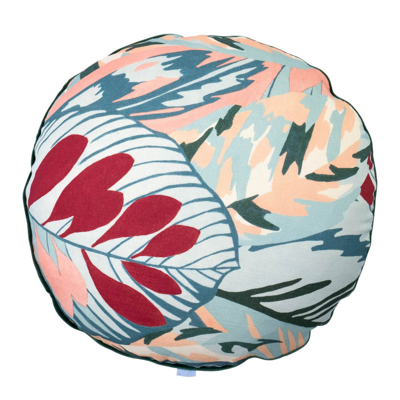 Camo Blue 38cm Round Cushion-Bibilo