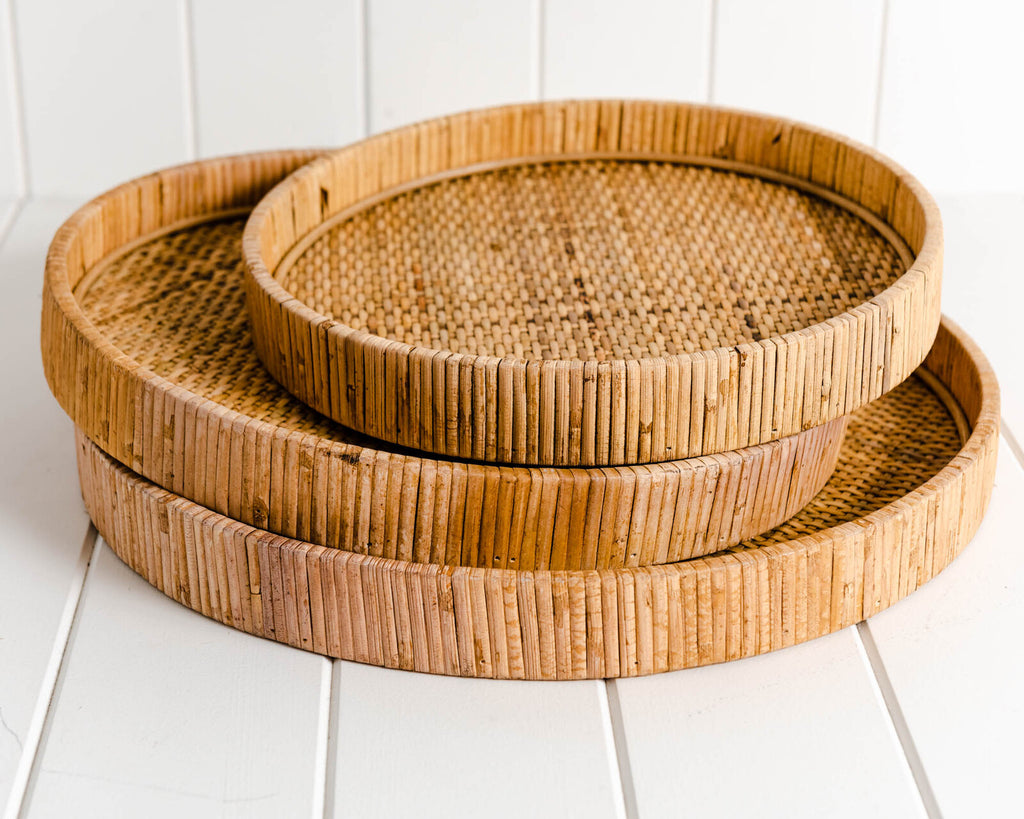Piper Round Trays Set of 3 Natural-Bibilo