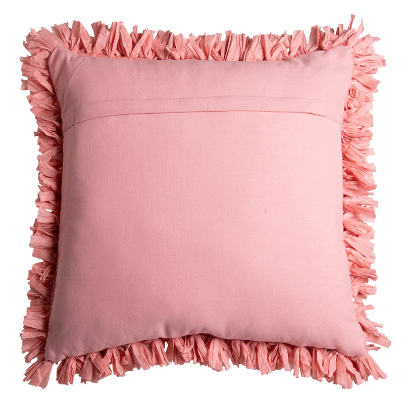 Elodie Square 50cm Cushion Coral Set of 2-Bibilo