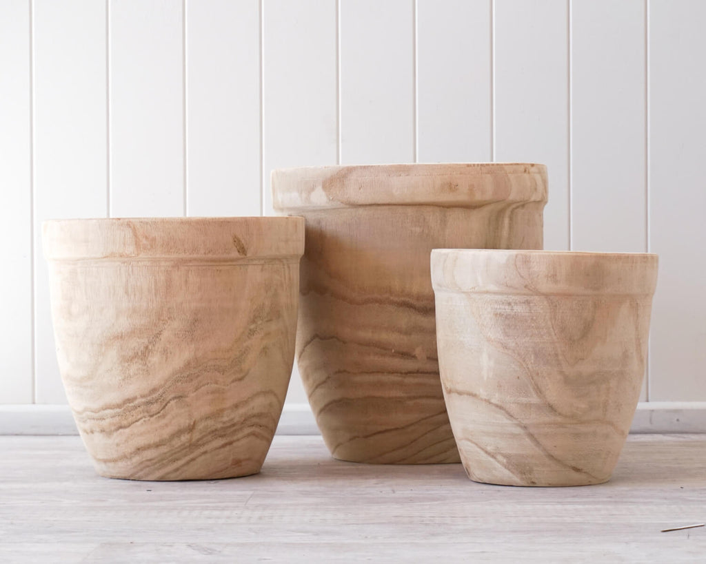 Delphi Rustic Planters Set of 3 Natural-Bibilo