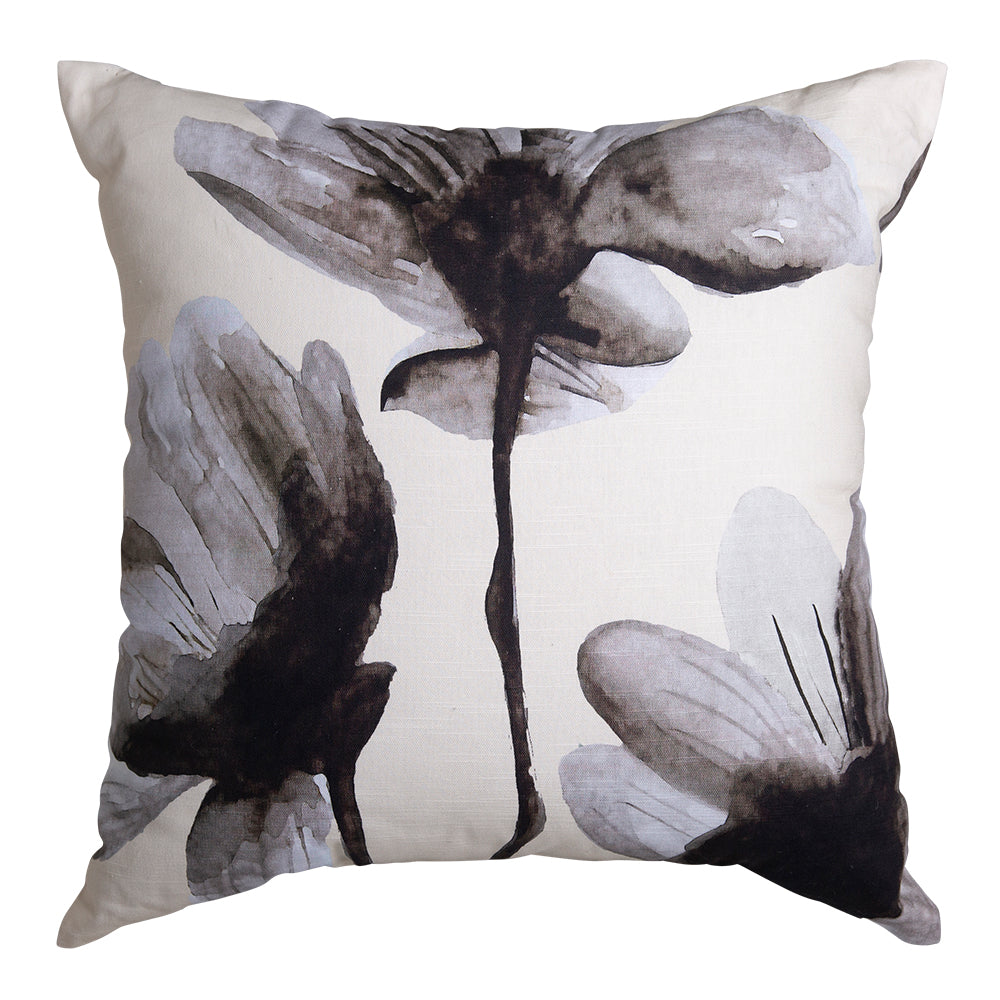Floryn Square 50cm Cushion Ivory & Black Set of 2-Bibilo