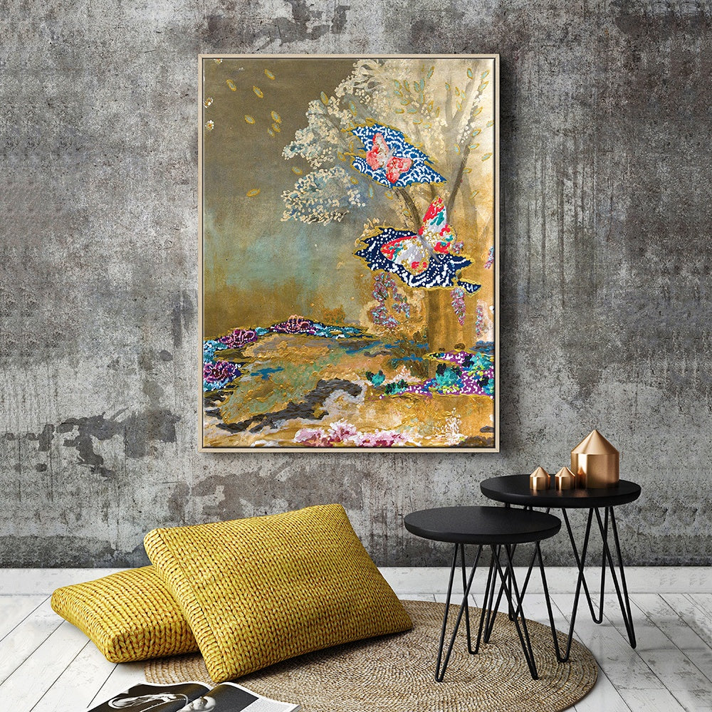 Gold Framed Canvas Print by Lia Porto-Bibilo