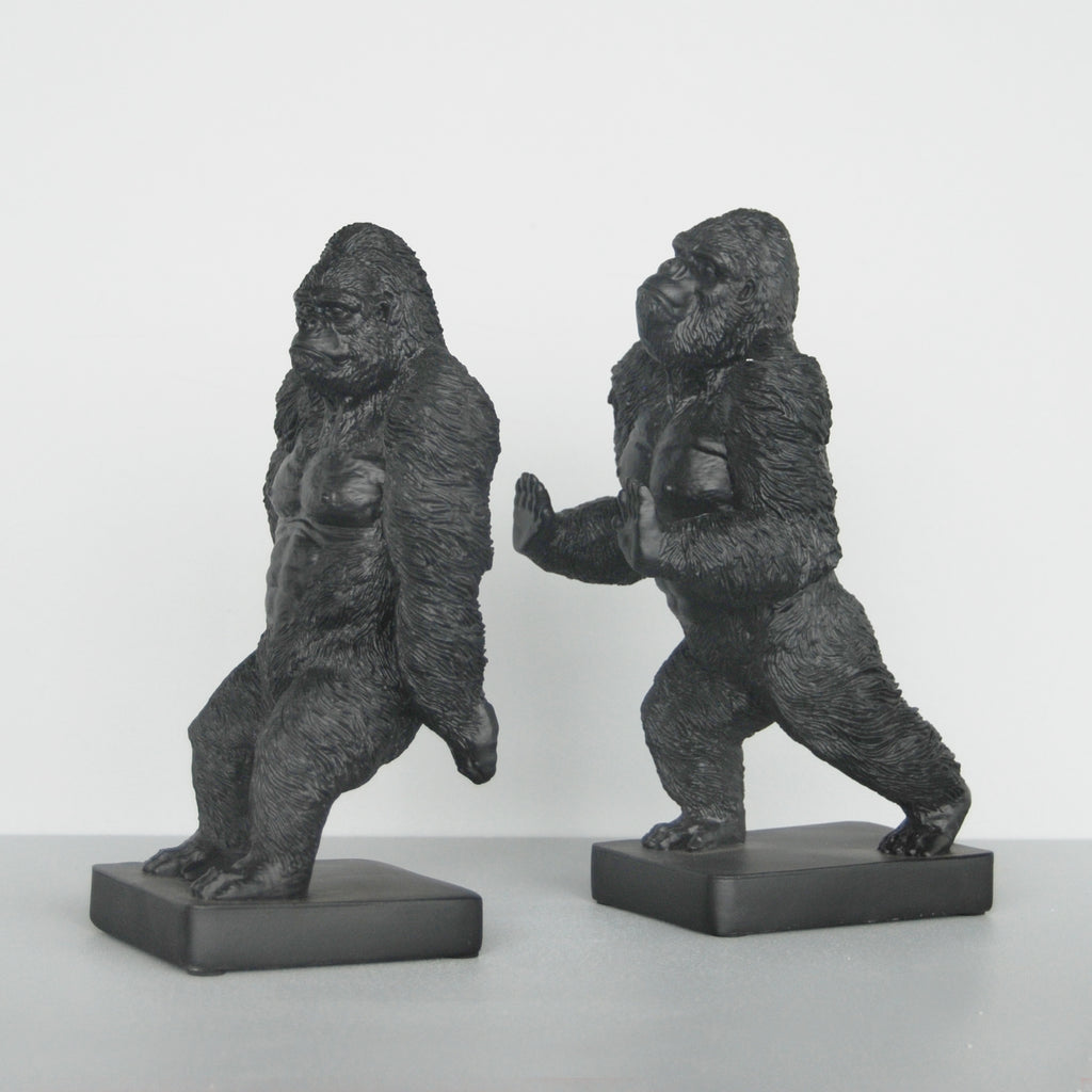 Zilla Gorilla Bookends Black-Bibilo