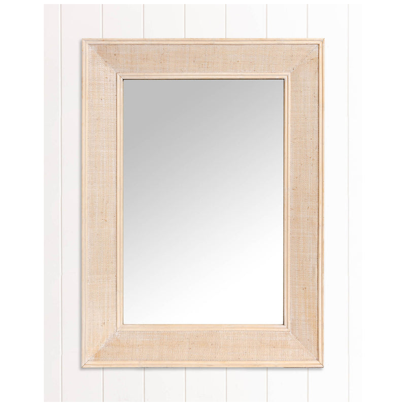 Leyla Rectangle Mirror White Wash-Bibilo