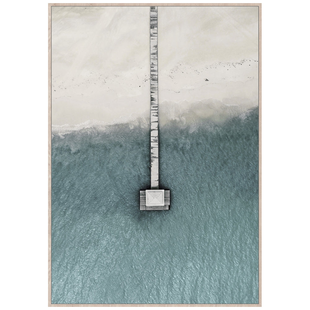 A Jetty Far Away Framed Canvas Print-Bibilo