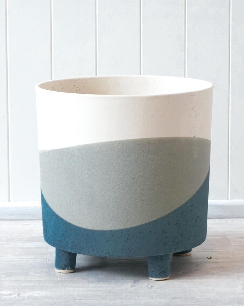 Positano Ceramic Planter XL Blue Azure-Bibilo