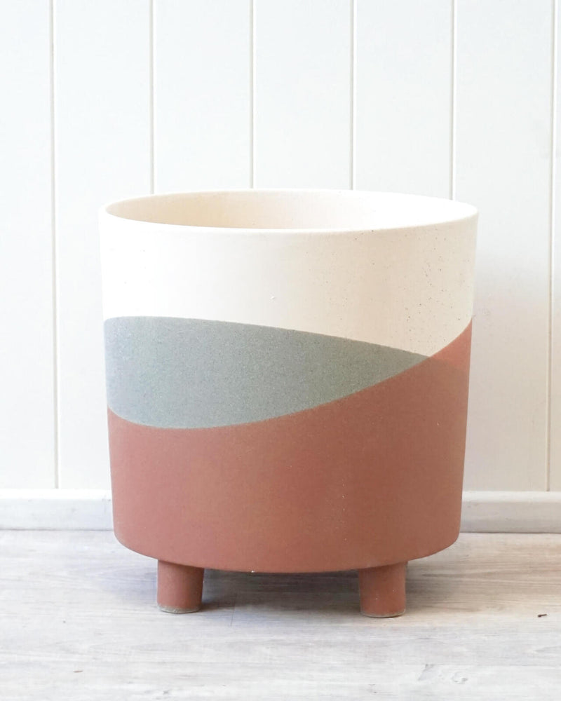 Lilianna Ceramic Planter XL Pink Dusk-Bibilo