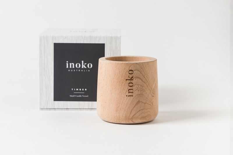 Timber Candle Vessel Small-Bibilo