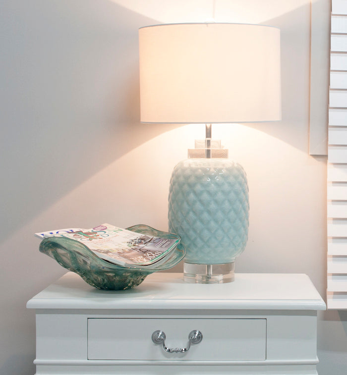 Island Table Lamp Duck Egg Blue-Bibilo