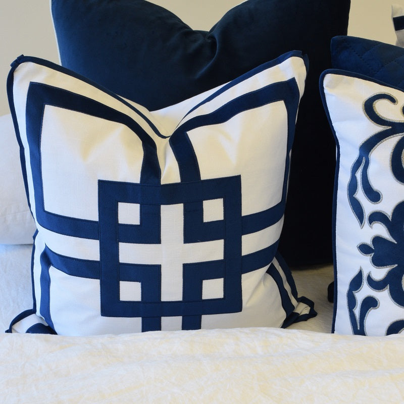 Kirribilli Navy 50cm Cushion Cover-Bibilo