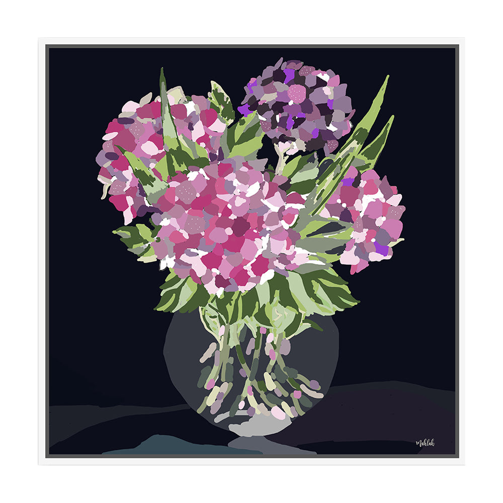 Glass Vase Framed Canvas Print-Bibilo