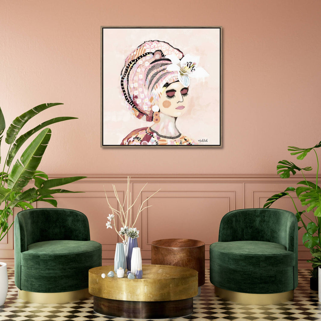 Polly May Framed Canvas Print-Bibilo