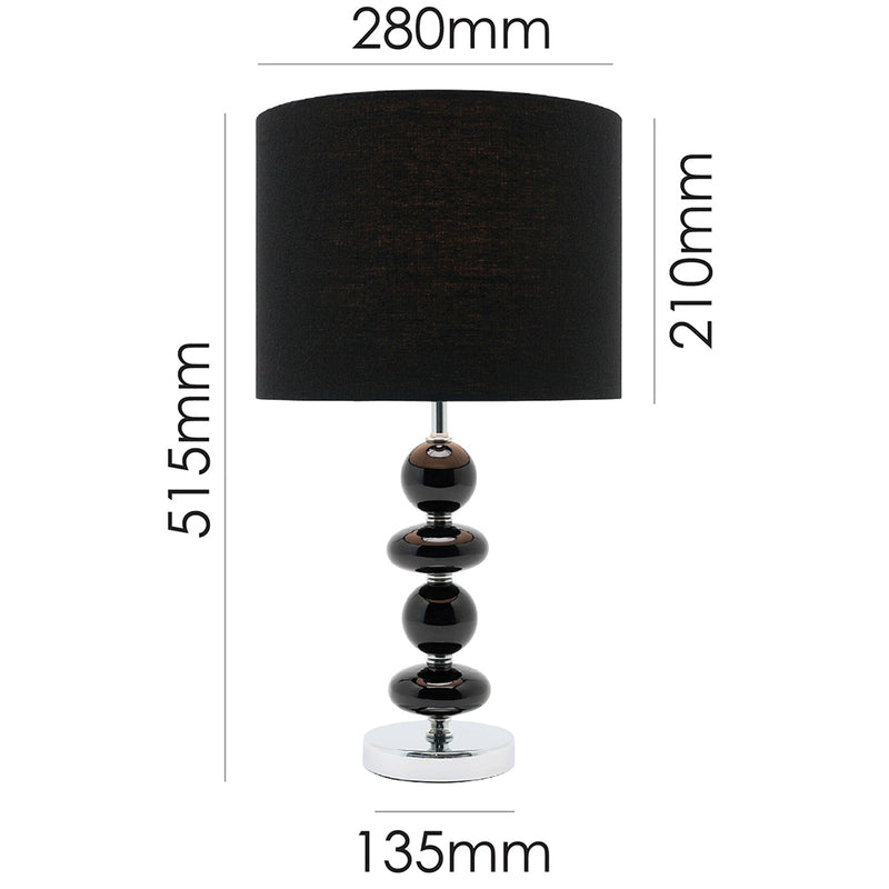 Allsorts Table Lamp Black-Bibilo
