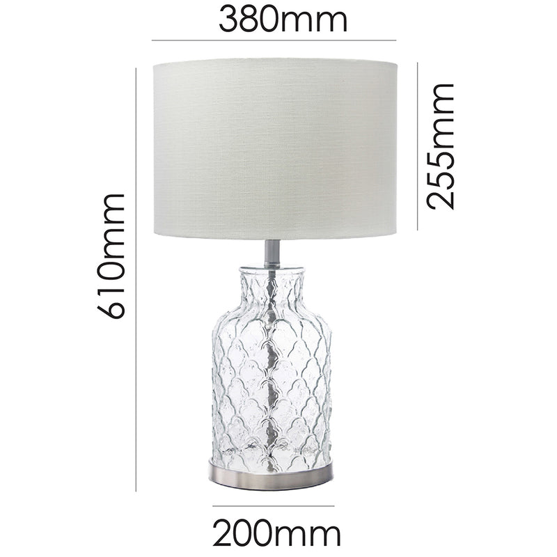 Ariel Table Lamp White-Bibilo