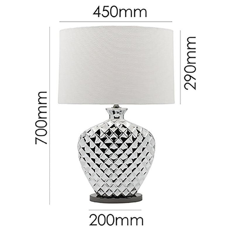 Federer Table Lamp Chrome-Bibilo