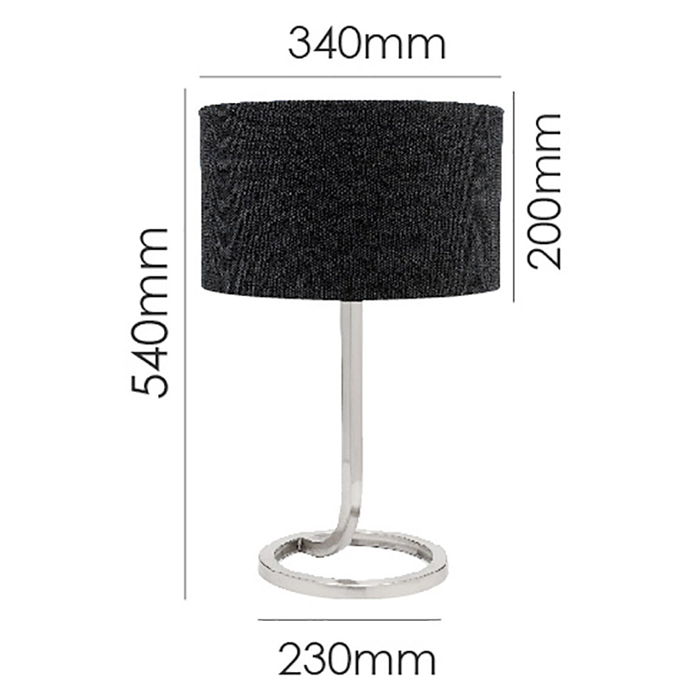 Guthrie Table Lamp Black-Bibilo