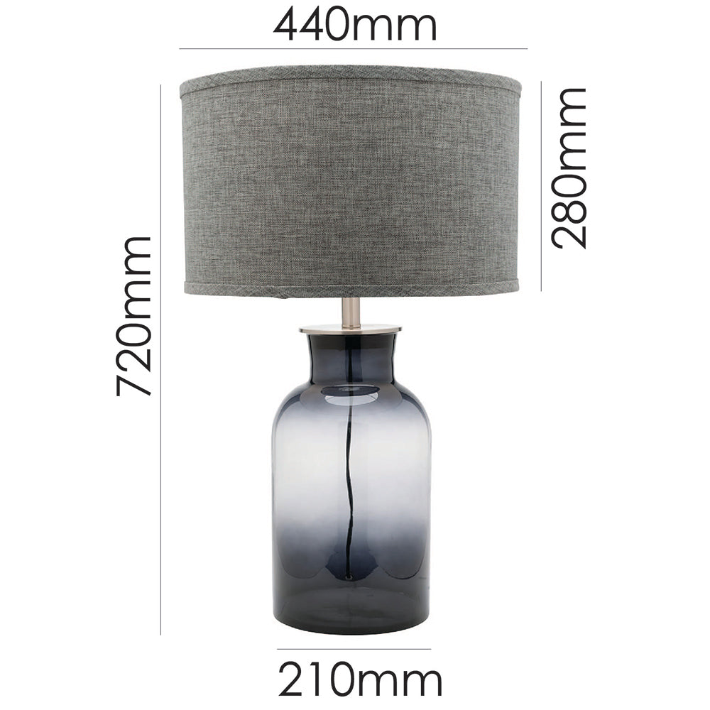 Haize Table Lamp Smoke-Bibilo