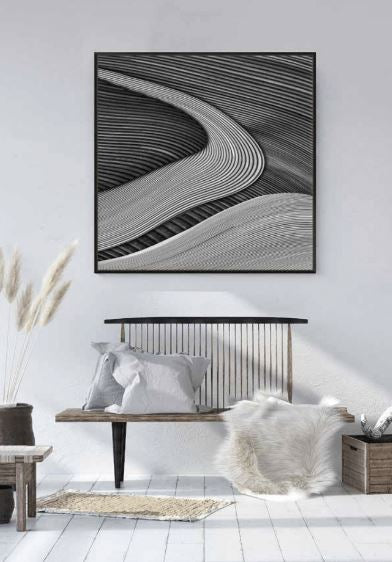The Wood Project III Framed Canvas Print-Bibilo