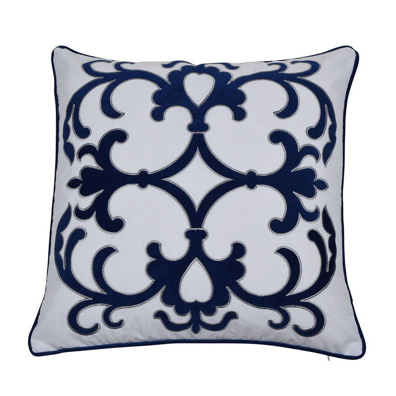 Lennox Navy 50cm Cushion Cover-Bibilo