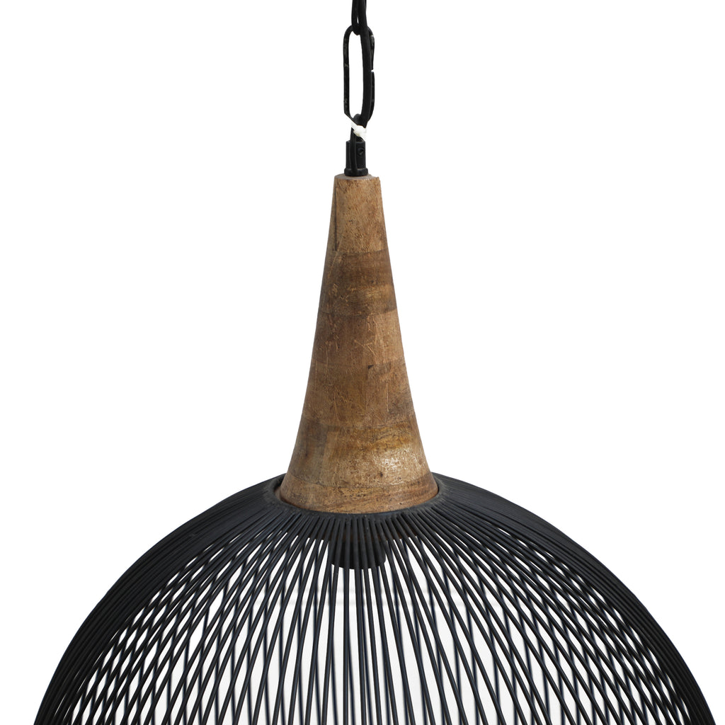 Metal Dome Pendant Black-Bibilo