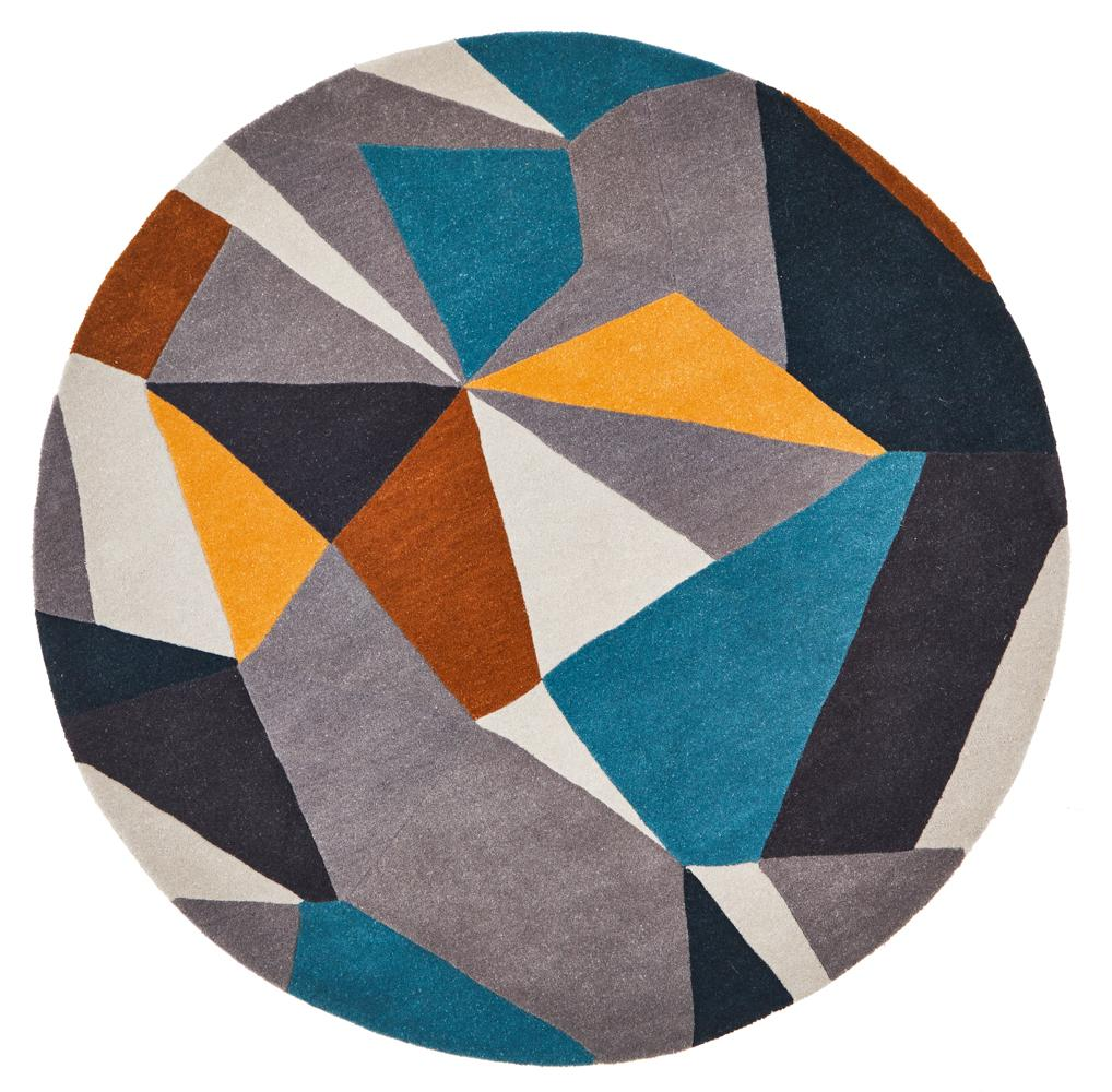 Kalay Pure Wool Round Rug-Bibilo