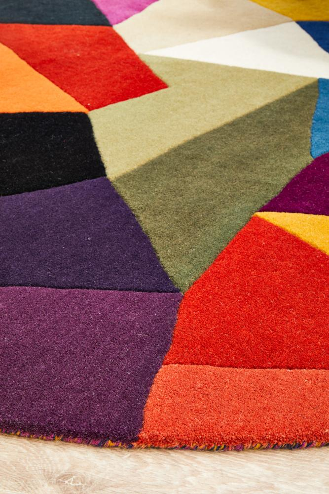 Pica Pure Wool Round Rug-Bibilo