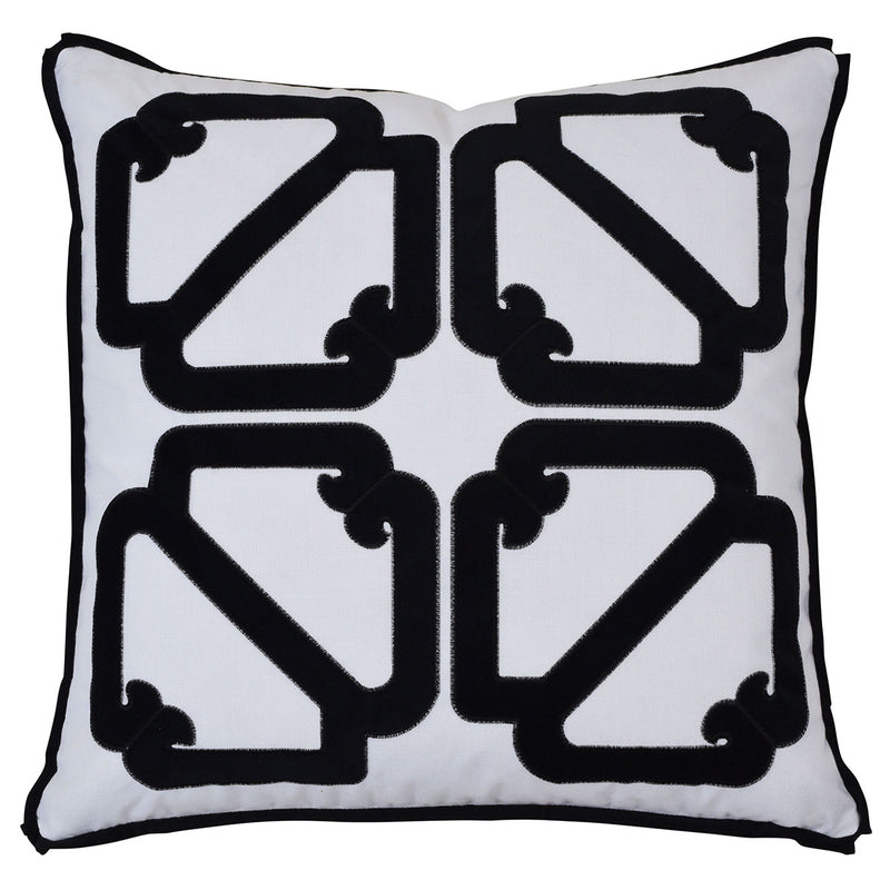 Manly Black 55cm Cushion Cover-Bibilo