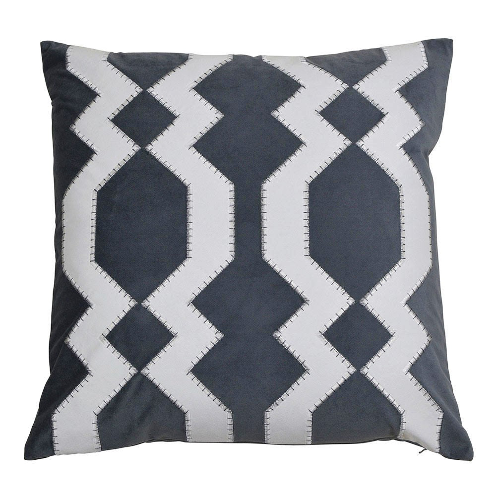 Mosman Grey 50cm Cushion Cover-Bibilo