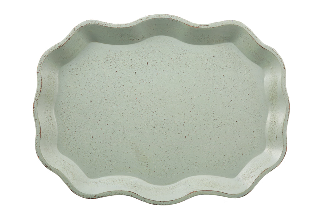 Flora Oval Tray Green-Bibilo